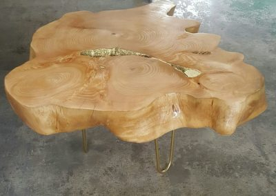 Root side table no glass (Custom Made)
